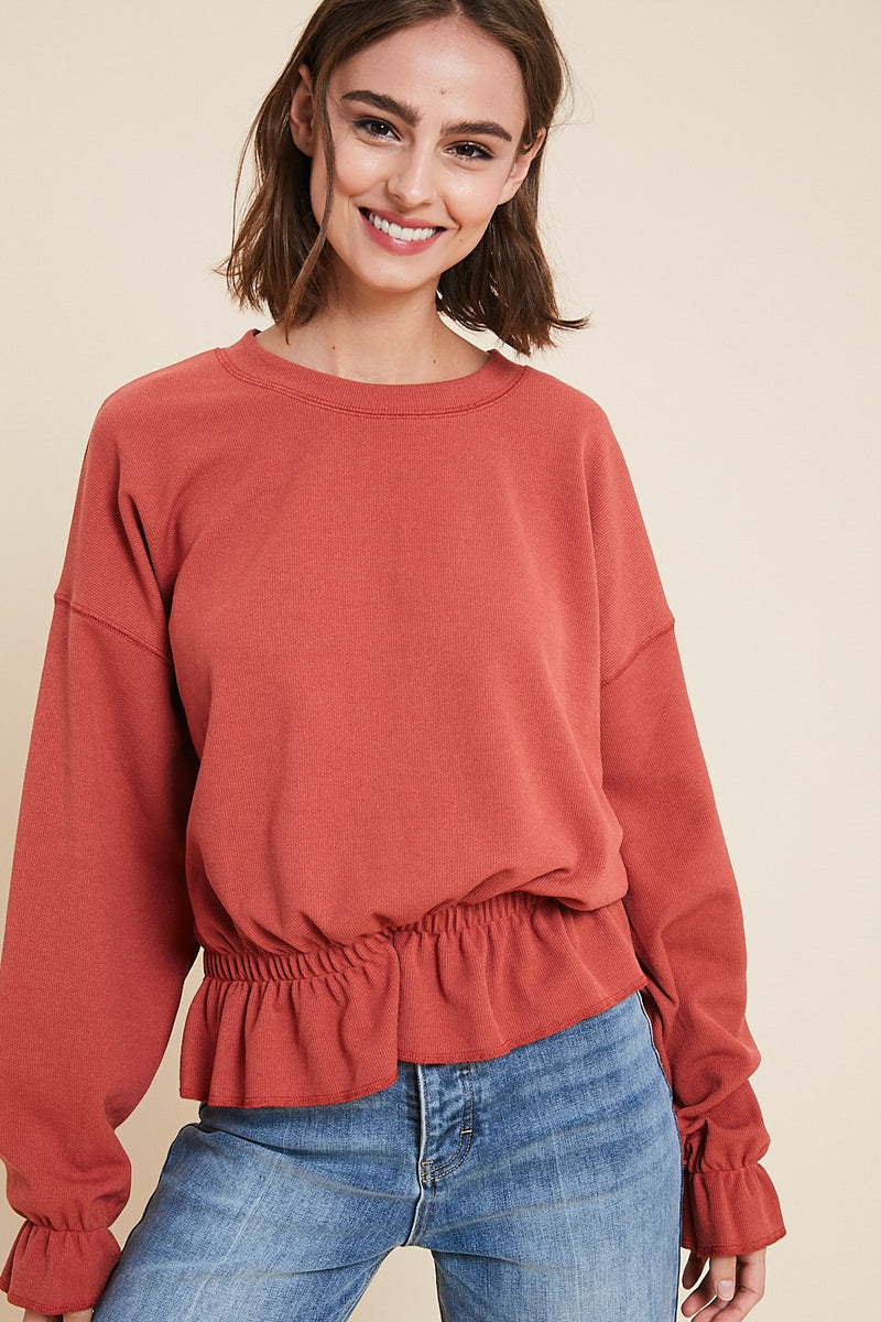 Ruffled Up Sweater - FINAL SALE