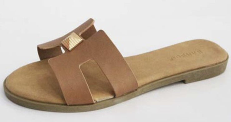 Mia Stud Sandals (Tan)