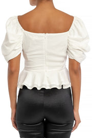 Vogue Puff Sleeve Blouse - FINAL SALE