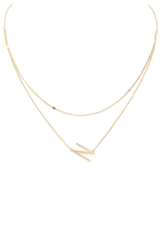Petite Letter Necklace (N) - FINAL SALE