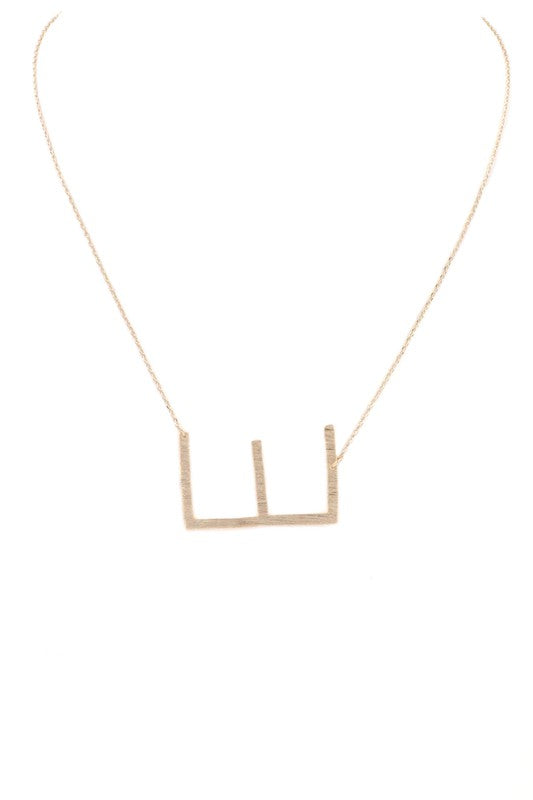 Large Letter Necklace (E)