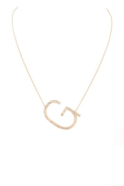 Large Letter Necklace (G)