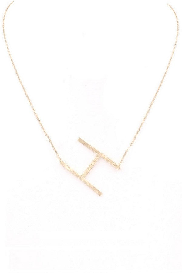 Large Letter Necklace (H)