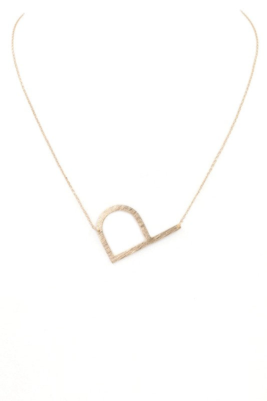 Large Letter Necklace (P)