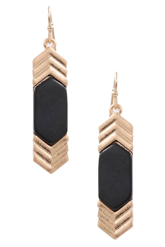 Luna Stone Earrings (Black)