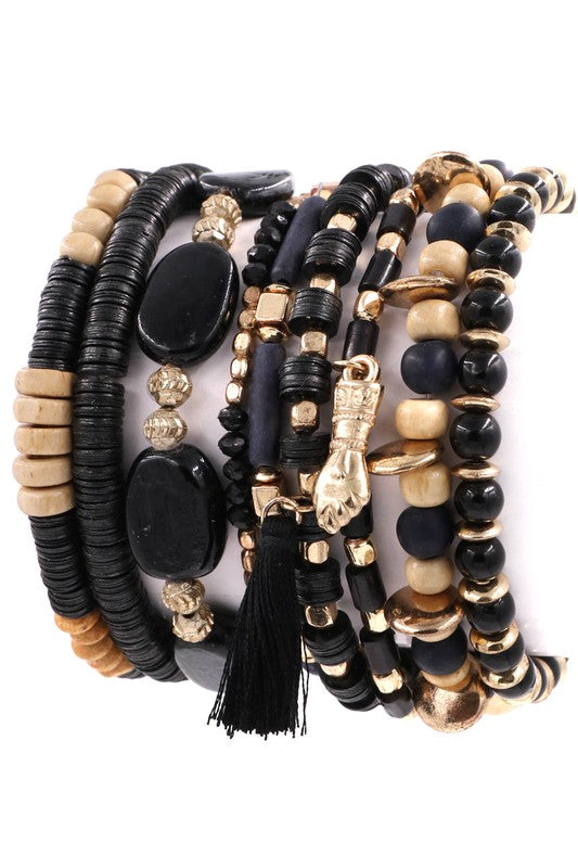 Find Your Way Bracelet Set (Black)