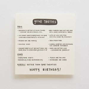 Your Thirties (Are Better Than Your Twenties) Card
