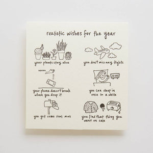 Realistic Wishes For The Year Card