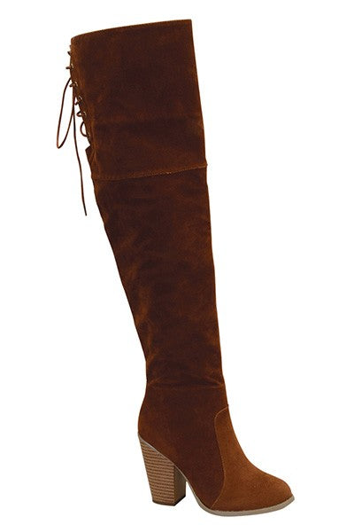 Dalliance Suede Boots (Tan)