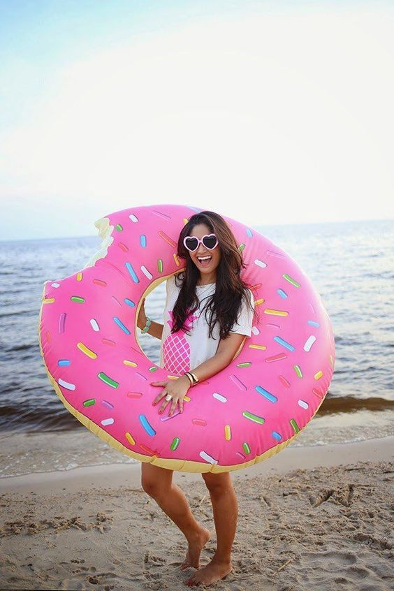 Giant Donut Pool Float (Pink)