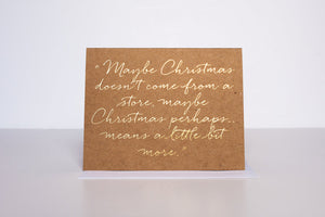 Grinch Christmas Greeting Card