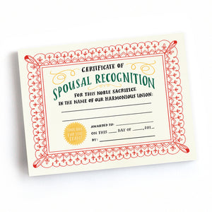 Spousal Recognition Notepad