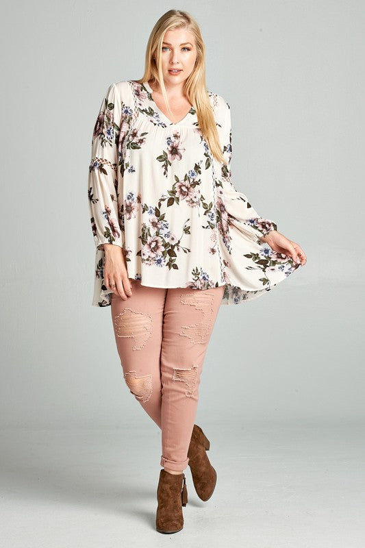 The English Garden Blouse (CURVY) - FINAL SALE
