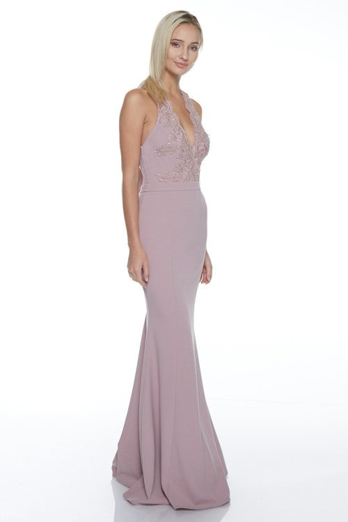 Moonlight In Atlanta Maxi (Mauve) - FINAL SALE