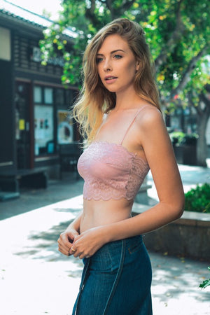 Open Road Lace Bandeau (Rose) - FINAL SALE