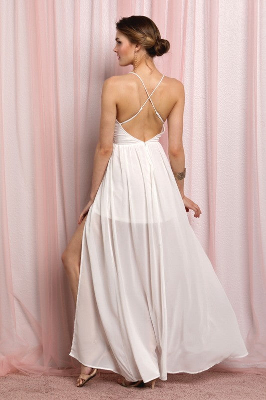Serendipity Gown (Cream) - FINAL SALE