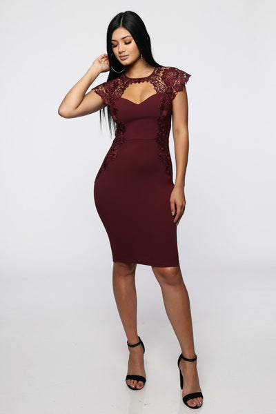 Miss Me When I'm Gone Bodycon (Wine)