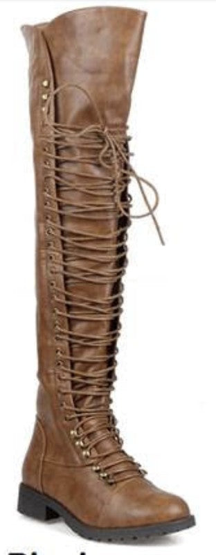 The Breanne Lace Up Boots