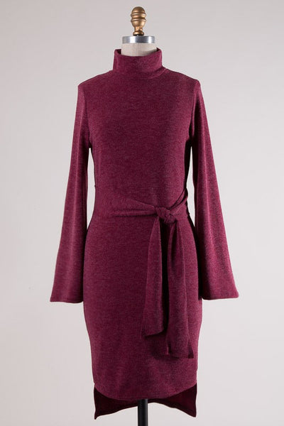 Mallorie Knit Dress (Wine)