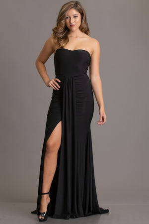 So Into You Strapless Gown (Black)