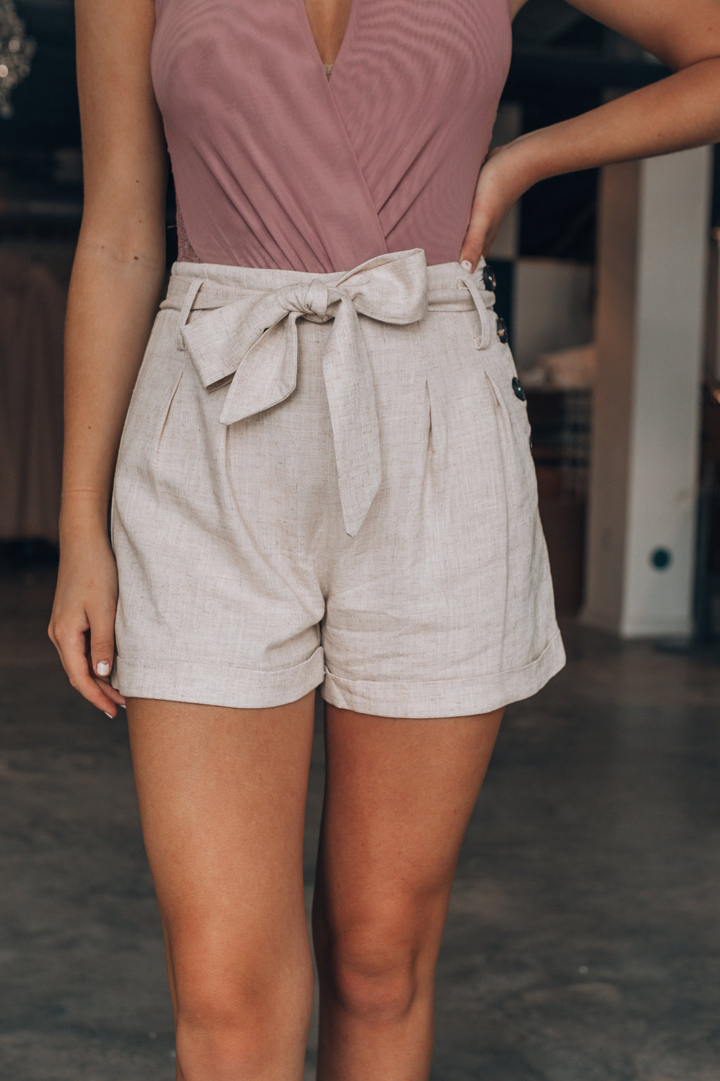 Avery Button Shorts - FINAL SALE