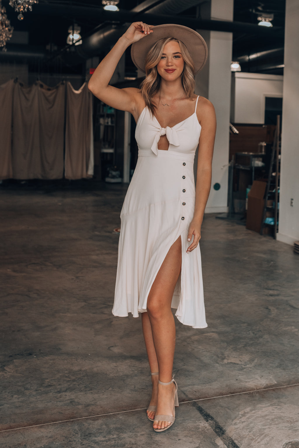 Coffee Date Midi Dress