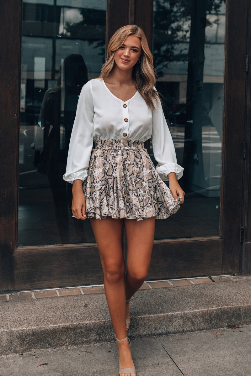 Snake You Out Romper Dress