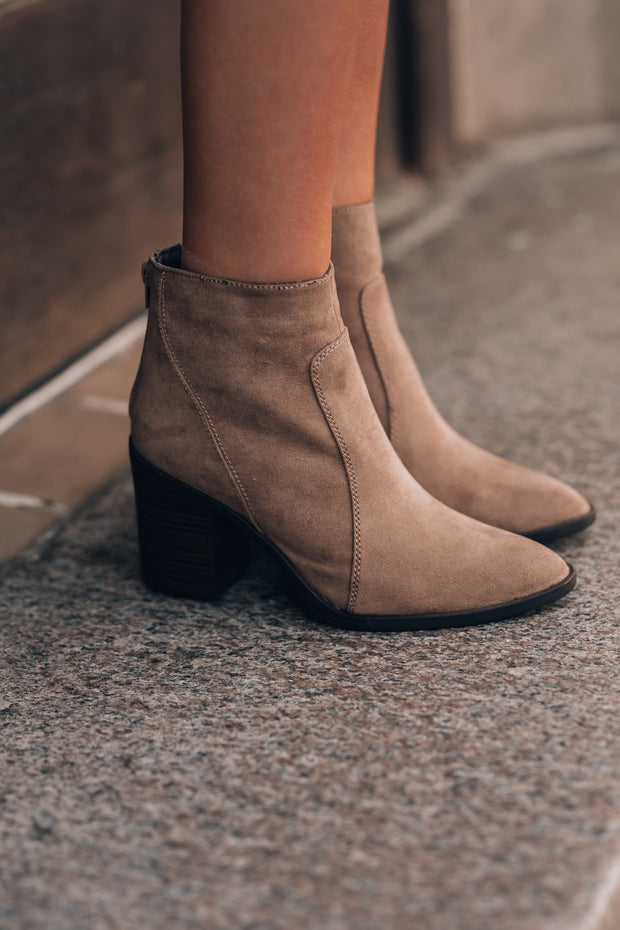 Haley Booties (Khaki)