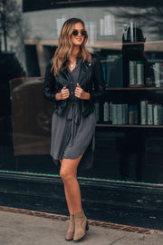 Business Casual Button Up Dress