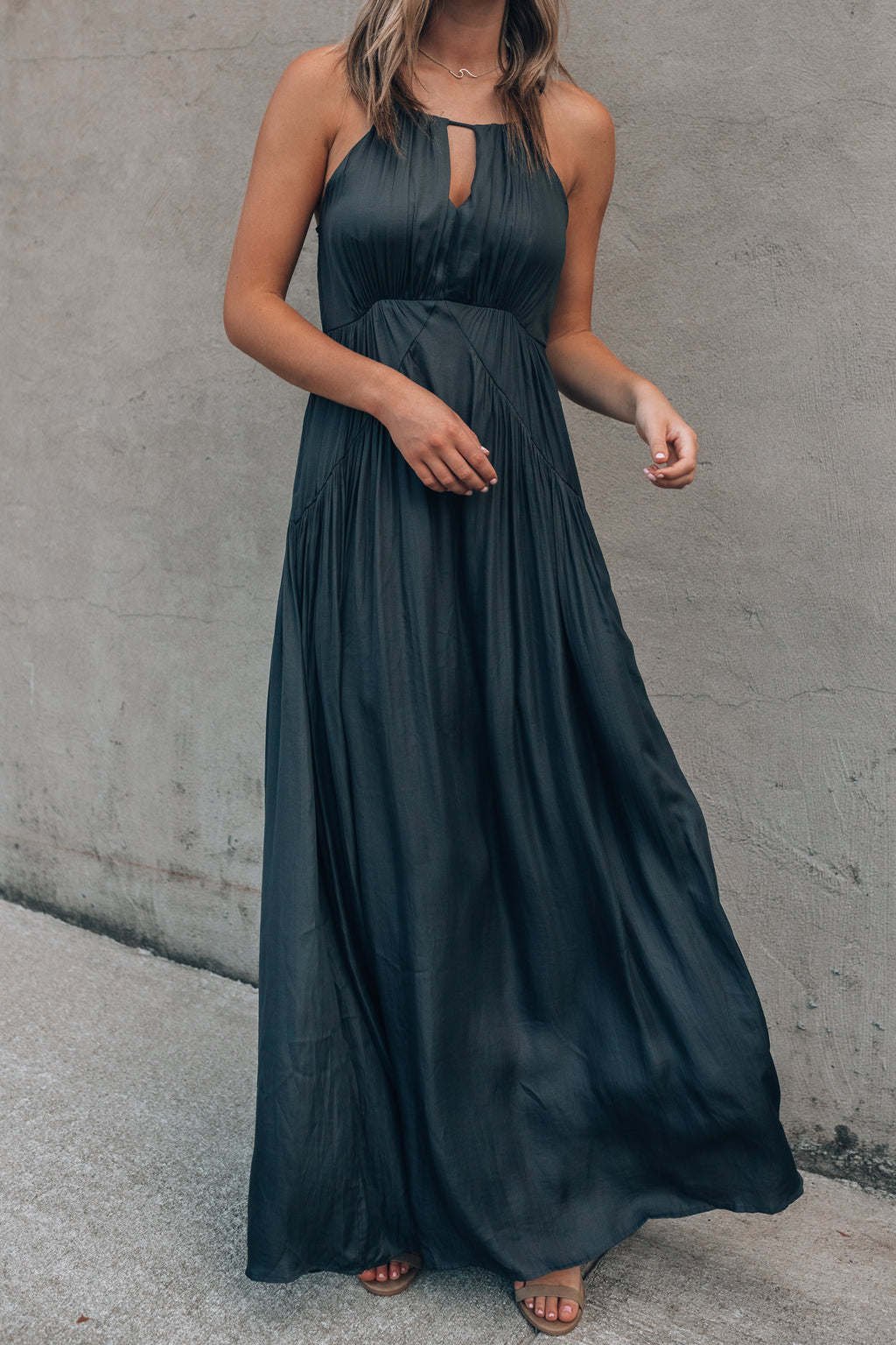 Magnolia Maxi Dress (Steel)