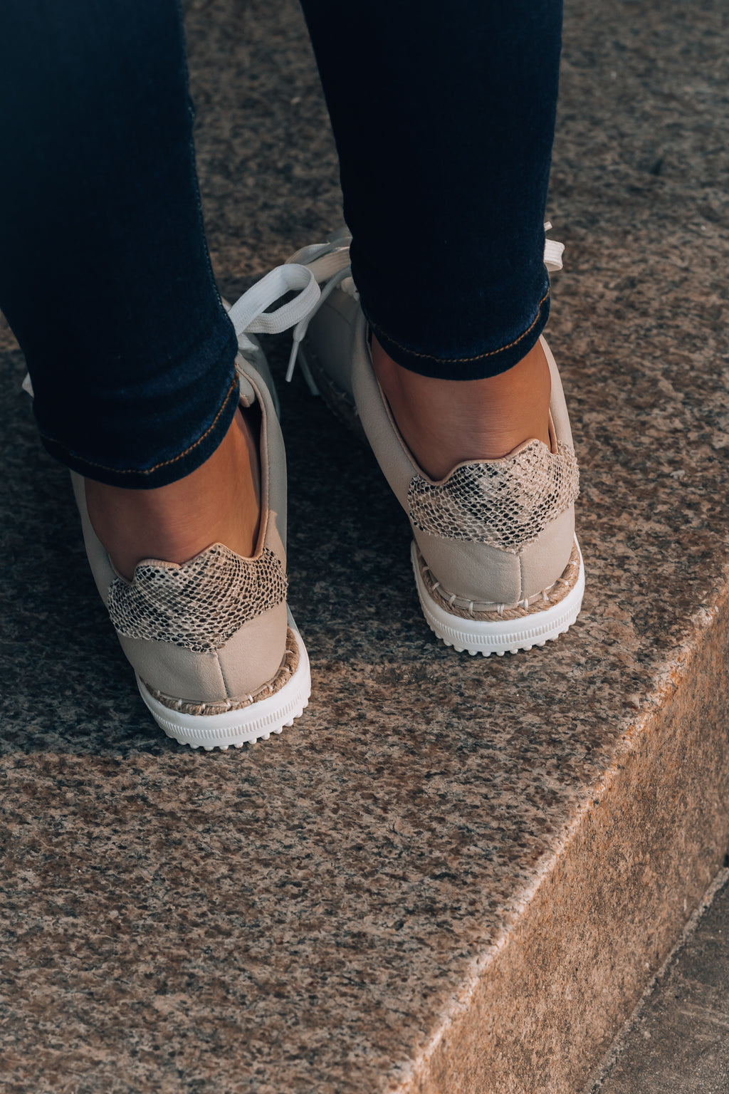 Lucia Snake Sneakers