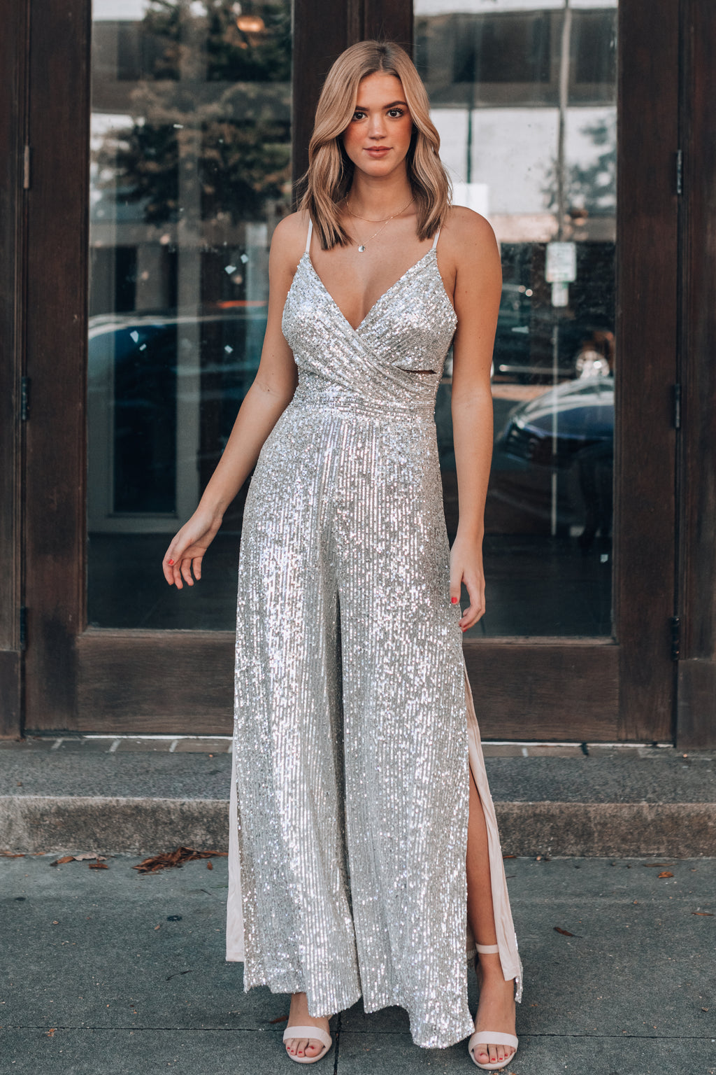 NYE Ready Sequin Jumpsuit