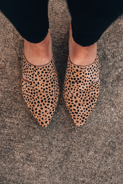 Casual Friday Cheetah Mules