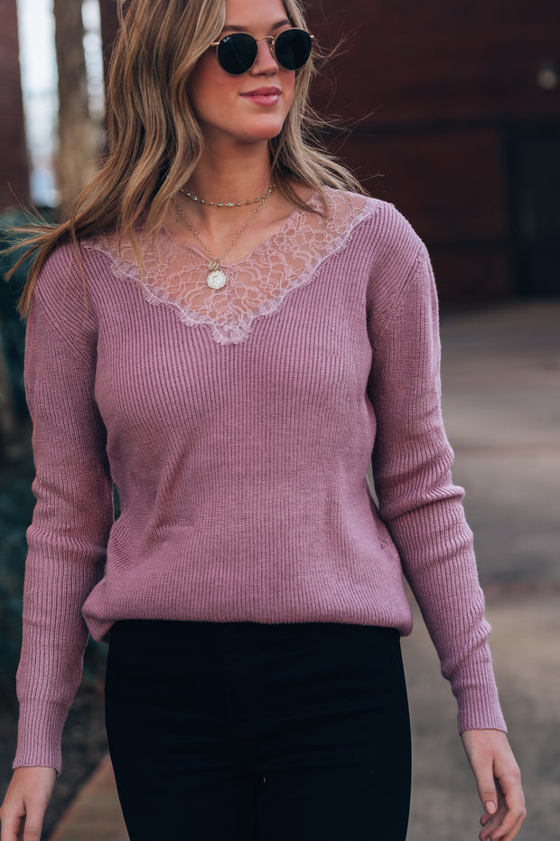 Sprung On You Lace Sweater