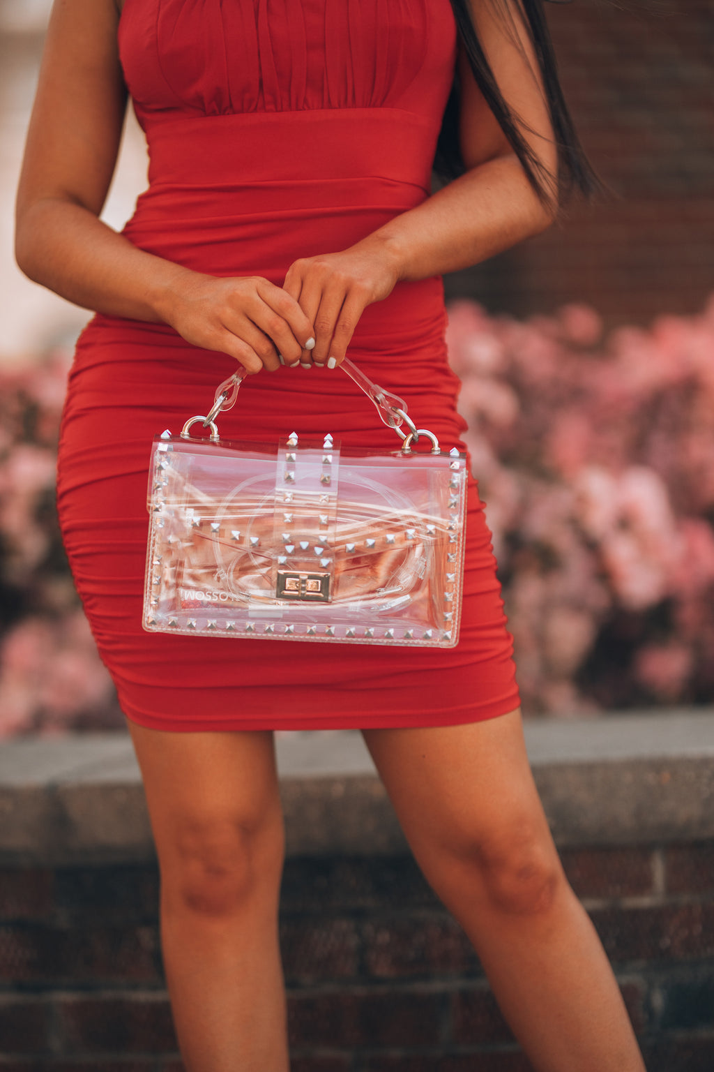 Clear View Studded Bag - FINAL SALE