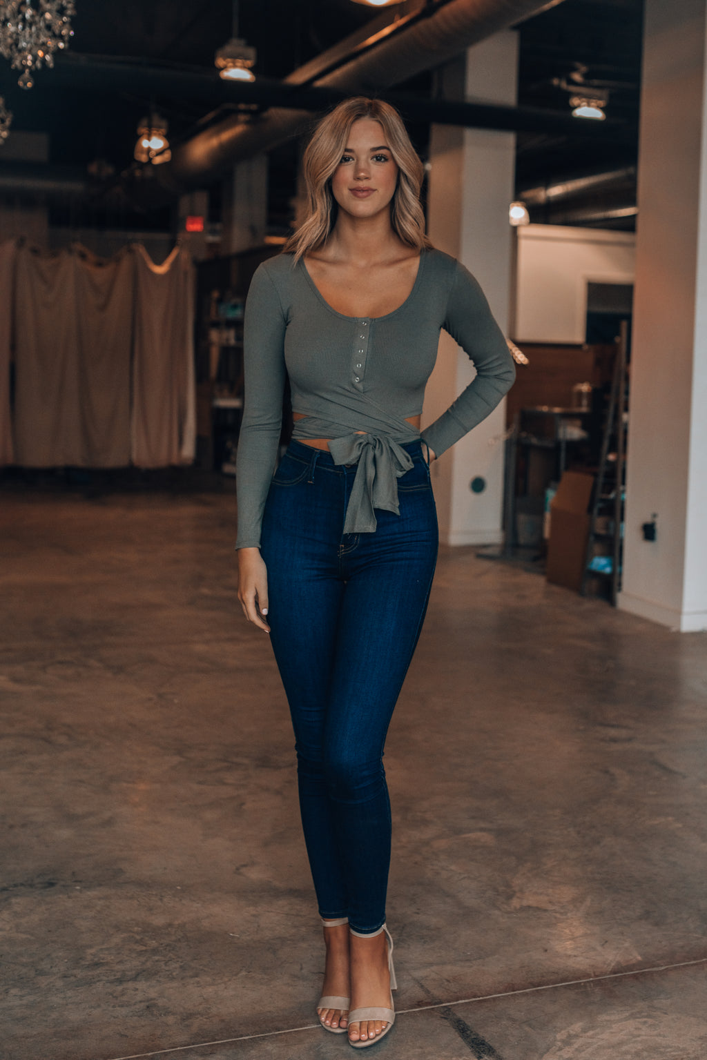 Simmona Wrap Top (Olive)
