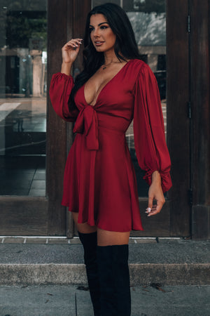 Brunch Date Mini Dress (Wine) PRE-ORDER Ships Early October