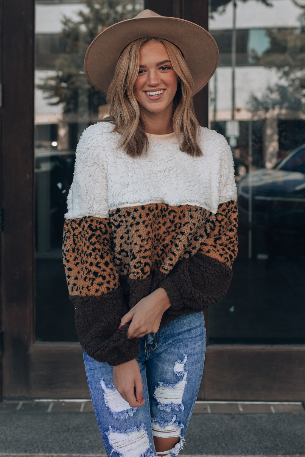 Alpine Fuzzy Sweater (Leopard)