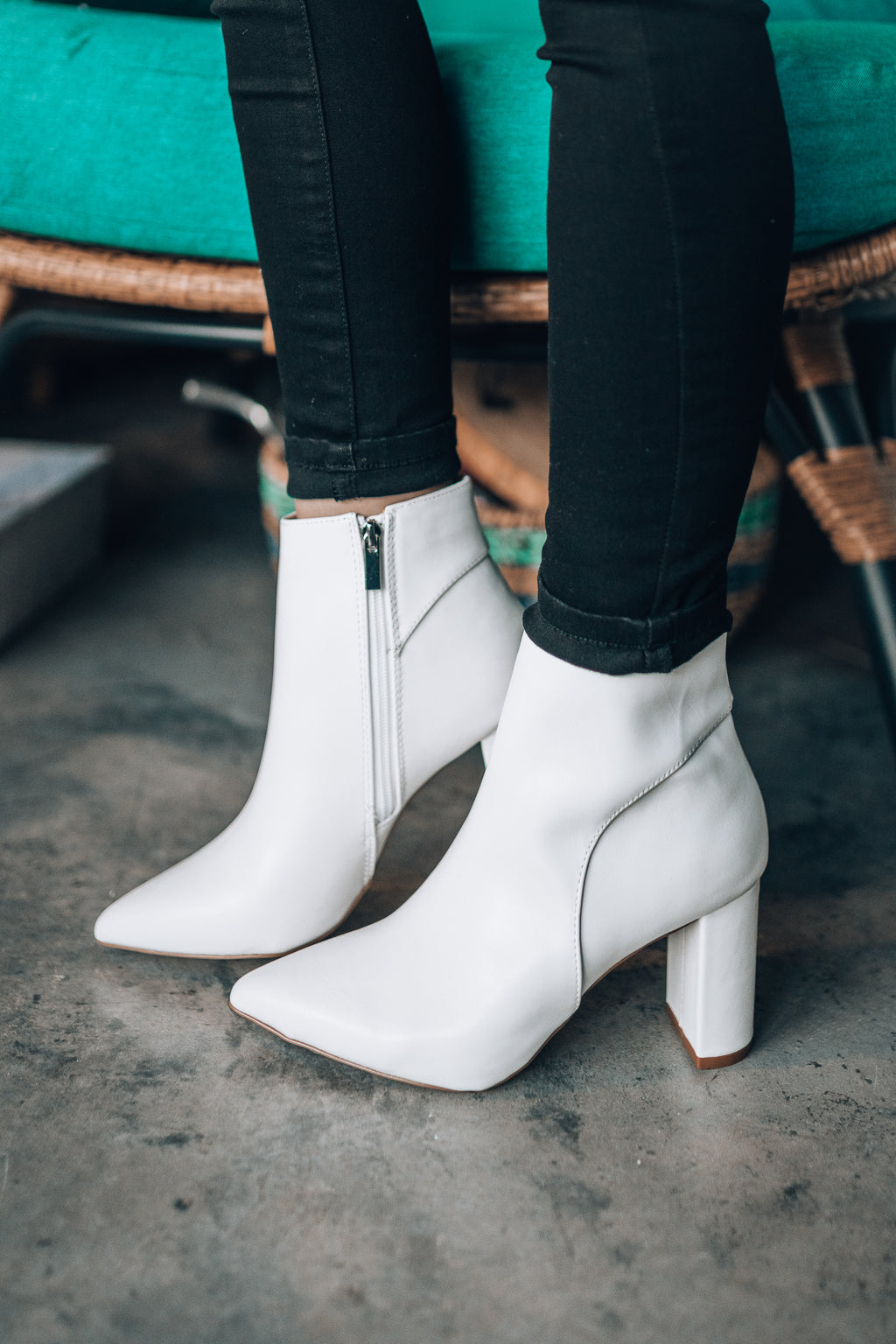 Medusa Booties (White)