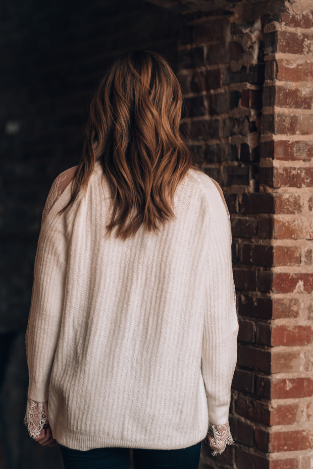 Dakota Lace Sweater (Ivory)