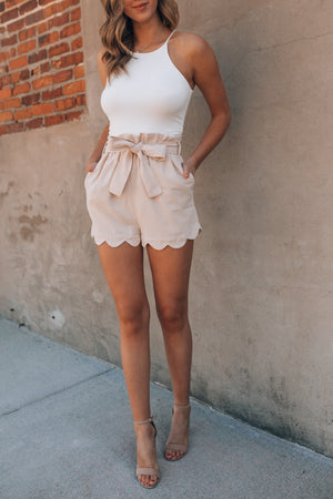 Take A Trip High Waisted Short (Taupe) PRE-ORDER Ships Late September