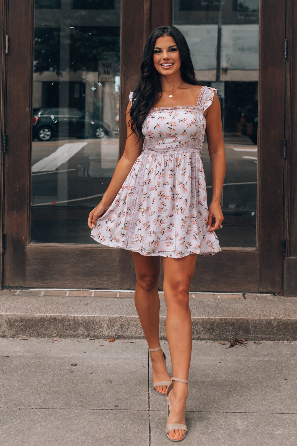 Lou Floral Mini Dress (Lilac)