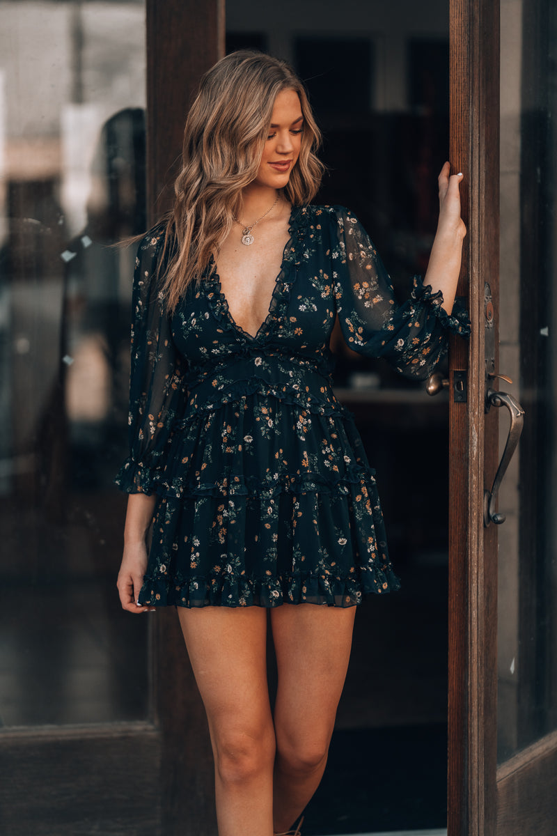 Summer Solistice Floral Mini Dress