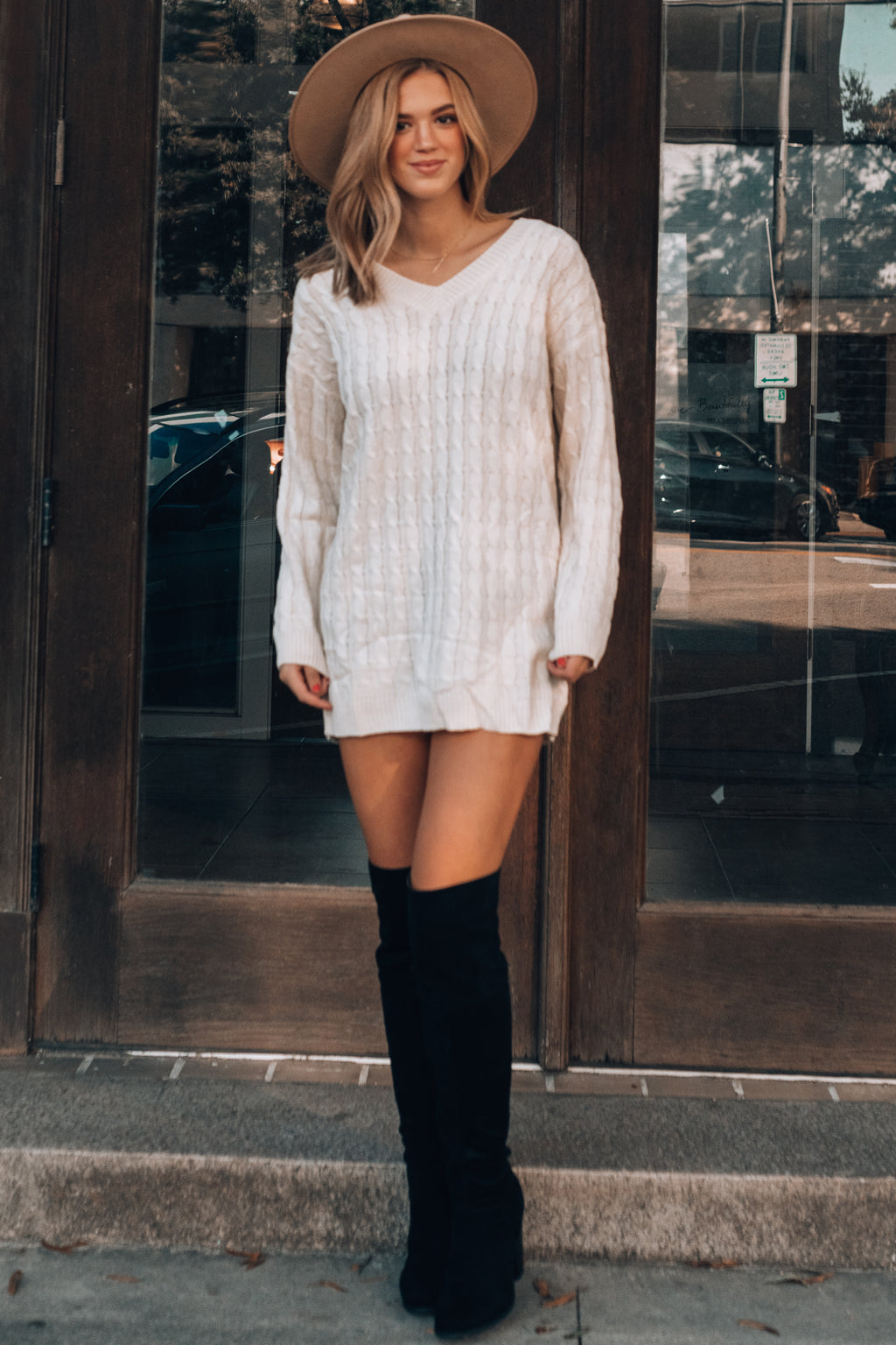 Ariel Knitted Sweater (Ivory)