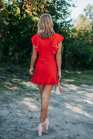 Heat Of The Night Mini Dress (Red) PRE-ORDER Ships October 23rd