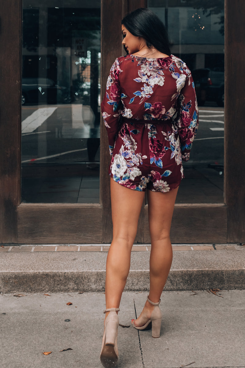 Sent From Above Floral Romper