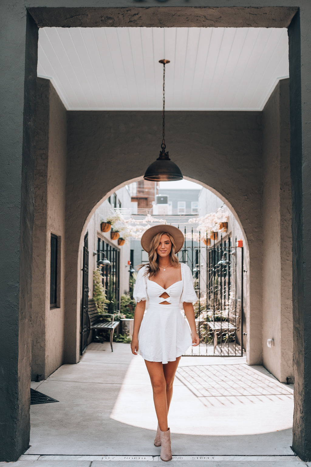 So Sweet Bow Mini Dress (Ivory)