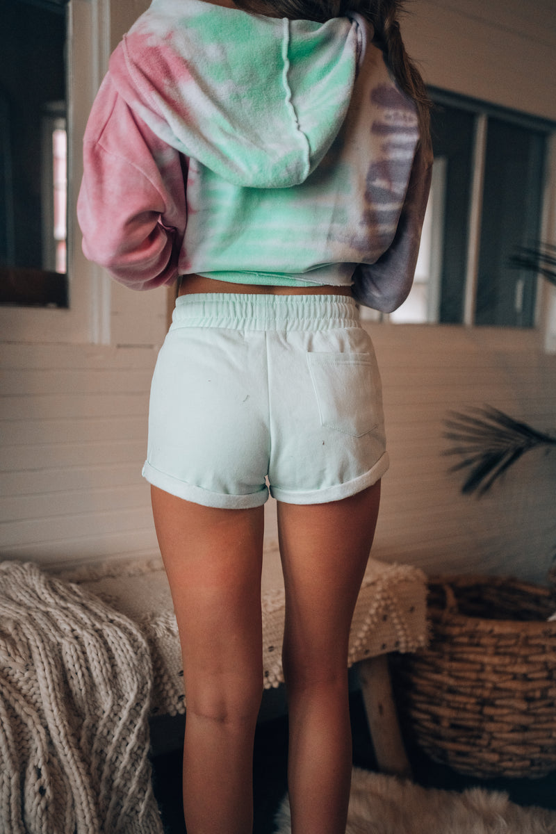 Stay In Cuff Shorts (Mint)
