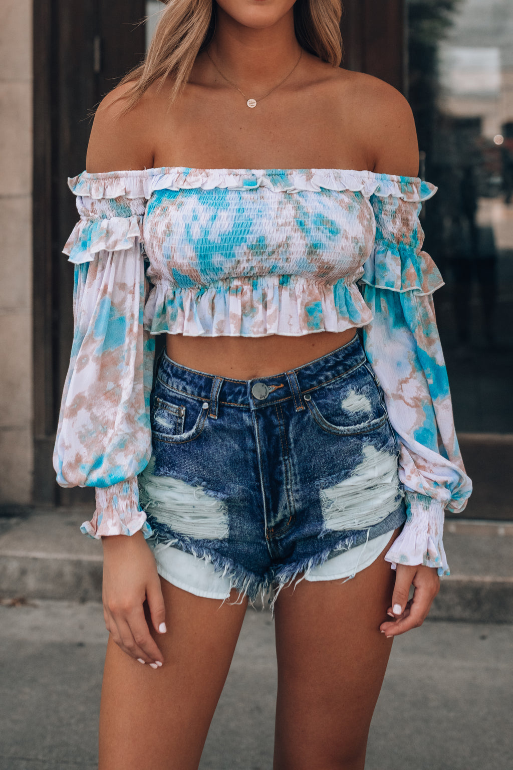 Charlie Smocked Crop Top