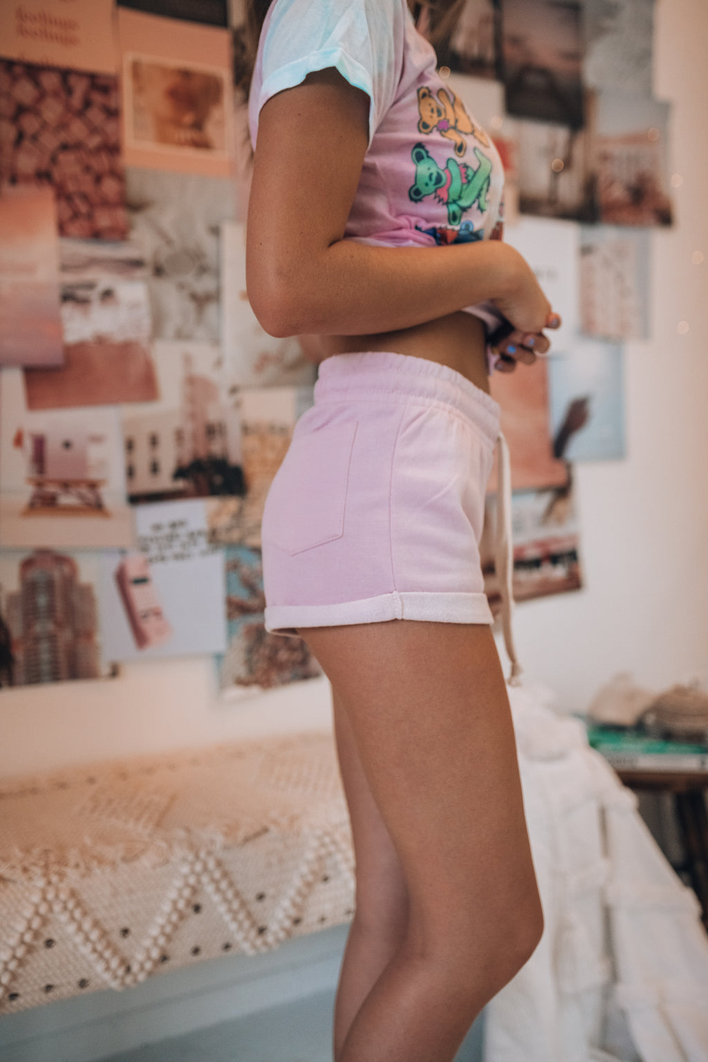 Roll With It Shorts (Lilac)